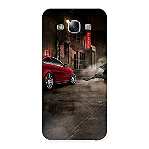 Special Red Car Impact Multicolor Back Case Cover for Samsung Galaxy E5