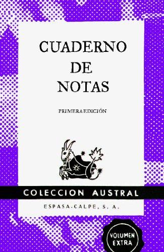 Cuaderno de notas violeta 11,2x17,4cm por Espasa Calpe