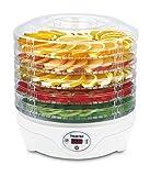 SUNTEC Dörrautomat FDH-8595 Dörthe digital [Schoneneds Trocknen von Lebensmitteln auf 5 Etagen, Temperaturwahl