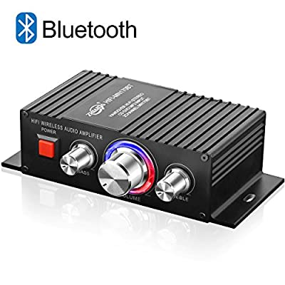 TTMOW Mini Amplifier Bluetooth 4.2 Digital 2 Channel 60W HiFi Amp Super Bass with Blue LED Indicator DC 12V 3A for Home Car