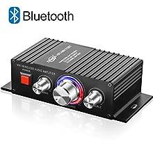 Mini HiFi Bluetooth Amplificateur TTMOW 50W x 2 Amplifier Audio Stéréo DC 12V 24V Super Bass Amplificateur de Puissance Audio pour Voiture et Voiture (Adaptateur Universel, Non Inclus)