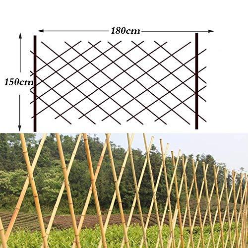 JIANFEI-weilan Holz Zaun Gartentor Gartenzaun Steckzaun Home Decoration Anlage Leitplanke Floral Geländer Wasserdicht, 4 Größen (Size : 150x180cm)