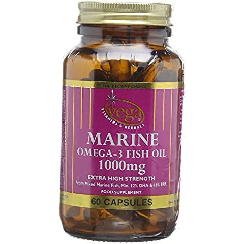 Vega Marine Omega-3 Fish Oil 1000mg Extra High Strength -