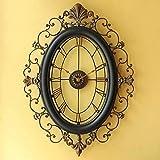 Salón retro comedor estudio europeo forja pared reloj moda hogar decoración del dormitorio