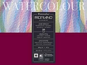 Fabriano Studio Papier aquarelle 200 g 24 X 32 cm Blanc