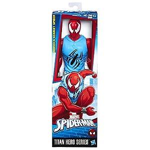 Hasbro Spider-Man Titan Hero Scarlet Spider 1pieza(s) Multicolor Niño/niña - Figuras de Juguete para niños (Multicolor… 4