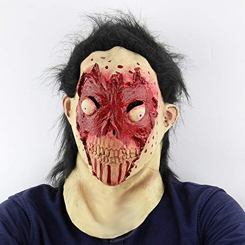 Q&J Neuheit Horror Zombie Coole Maske für Halloween, Cosplay Steampunk Halloween Kostüm Requisiten für Männer, Frauen und Kinder