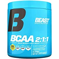 Beast Sports Nutrition – BCAA 2:1:1 – Amino Acid Supplement – Support Muscle Growth – Minimize Muscle Breakdown – Accelerate Recovery