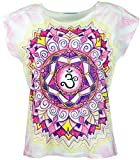 Guru-Shop Psytrance T-Shirt, Yoga T-Shirt, Retro T-Shirt, Damen, Om Mandala, Synthetisch, Size:38, Tops, T-Shirts, Shirts Alternative Bekleidung