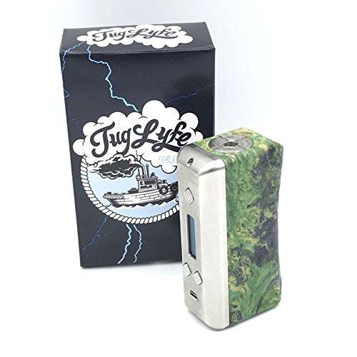 Flawess - Tugyife DNA 250w Box elettronico per sigaretta elettronica in resina e legno stabilizzato con controllo della temperatura e schermo Oled frontale,disponibile in diversi colori (verde)