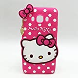 Samsung Galaxy S4 3D Cute Cartoon Hello Kitty Soft Silicone Gel Back Cover Case For Samsung Galaxy S4 (Hello Kitty Pink) BY MJ CREATION