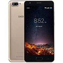 Moviles Libres Baratos, DOOGEE X20L Smartphone Libre, 5.0 Pantalla HD IPS - 4G Android 7.0 Telefonos - MT6737 4xCortex-A53, 1.25GHz - 2GB RAM+16GB ROM - 5.0MP Cámara - Batería de 2580mAh (Oro)