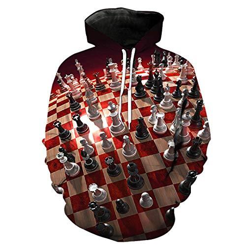 MERTHURE Mode Sweatshirt Unisex 3D Hoodies Print Play Spielkonsole Rubik's Cube Slim Hoodies 1829 XXL -