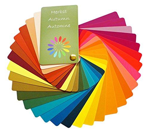 Farbpass Herbst (warm Autumn) als Fächer mit 30 typgechten Farben zur Farbanalyse, Farbberatung (Farben Herbst)