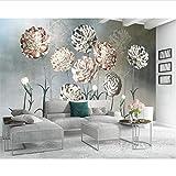 Foto Wallpaper Pittura 3D Atmosfera Fiore Blu Fresco Floreale Tv Sfondo Muro Per La Camera Dei Bambini