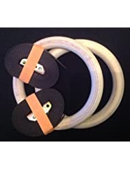 Olympus Wooden Gymnastic Rings (Gymnastikringe) For Bodyweight Excercising, Suspension Training - Taking your body to a new level of strength & endurance. Part of the Columbia-Bookfest® PowerCords products.