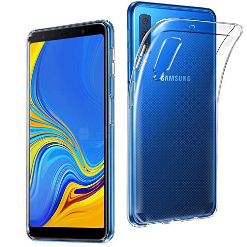 AVIDET Samsung Galaxy A7 2018 Hülle, Dünn Durchsichtige Handyhülle Soft Flex Silikon TPU Case für Samsung Galaxy A7 A750 6 Zoll 2018 - Transparent