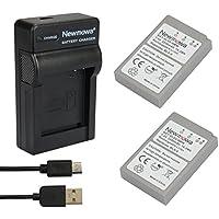 Newmowa BLS-5 Batería (2-Pack) y Kit Cargador Micro USB portátil para Olympus BLS-5, BLS-50, PS-BLS5 Olympus OM-D E-M10, Pen E-PL2, E-PL5, E-PL6, E-PL7, E-PM2, Stylus 1