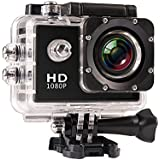 JIUSION Black, Cam Plus 16G MicroSD: 1080P Full HD Video Action Sport Mini Camera Waterproof Case DV Water Resistant Cam Underwater Diving 5MP Lens Camcorder