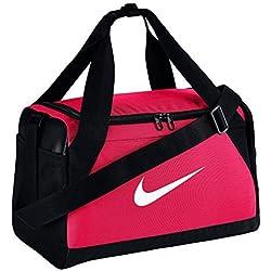 Nike Brsla Xs Bolsa de Deporte, Mujer, Rosa (Rush)/Negro/Blanco, Talla Única