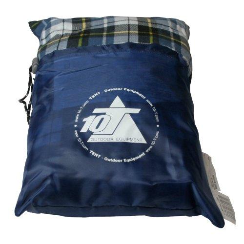 10T Camp Pillow 40x25cm Reisekissen Campingkissen Kopfkissen Schlaf-Kissen Sitzkissen mit integriertem Packbeutel zum umstülpen - 2