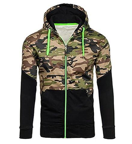 WanYang Hoodie Veste Sweat Zipper Pull Hommes Veste Camouflage Outwear