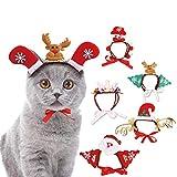 NSSZ Pet dog cat christmas headdress pet headgear pet halloween headdress hat funny