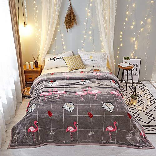 Fleece Wurfdecken Super Soft Fluffy Warm Solid Bed wirft für Sofa Luxus Mikrofaser Decke Flamingo König Größe 200 x 230 cm ()