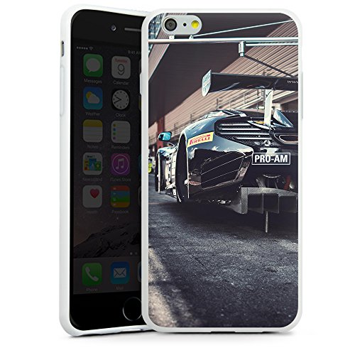 artboxONE Handyhülle iPhone 6/6S Mclaren - Motorsport - Smartphone Case mit Kunstdruck hochwertiges Handycover kreatives Design Cover aus hartem Kunststoff von Heroes & Champions Silikon Case weiß