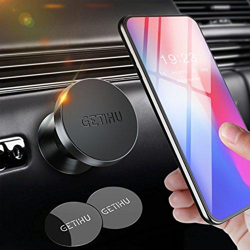 GETIHU - Soporte magnético Universal para teléfono móvil para iPhone X, 8, 7, 6S, 6, 5S, 5 Plus, Samsung, HTC, Motorola, Blackberry, Smartphone, GPS