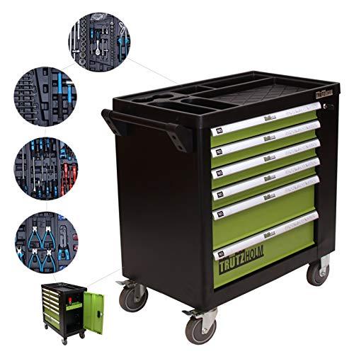 TRUTZHOLM® Werkstattwagen Premium Profi bestückt Montagewagen gefüllt Werkzeugwagen Assistent (Profi XL bestückt)