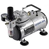 Agora-Tec Airbrush Compressor AT-AC-02, Kompressor für Airbrushanwendungen mit 4 bar und 20l/min, inkl. Kondenswasserfilter und Druckregler
