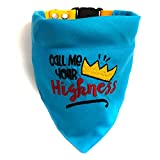 #2: That Dog in Tuxedo Call me Your Highness Dog Bandana/Dog Scarf with Adjustable Dog Collar (M-L)