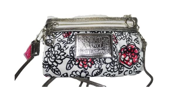 Sweden coach poppy graffiti messenger bag amazon 7dcc0 f7317 norway coach poppy graffiti flower swingpack crossbody messenger bag purse 43683 black white multi amazon shoes mightylinksfo