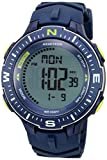 Armitron Sport Men's 40/8391NVY Lime Green Accented Digital Chronograph Navy Blue Silicone Strap Watch