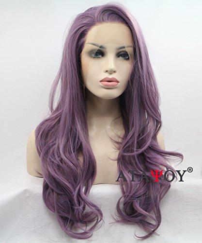 ATAYOU® pelucas púrpuras claras largas pelucas sintéticas