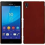 PhoneNatic Case für Sony Xperia M4 Aqua Hülle rot gummiert Hard-case + 2 Schutzfolien