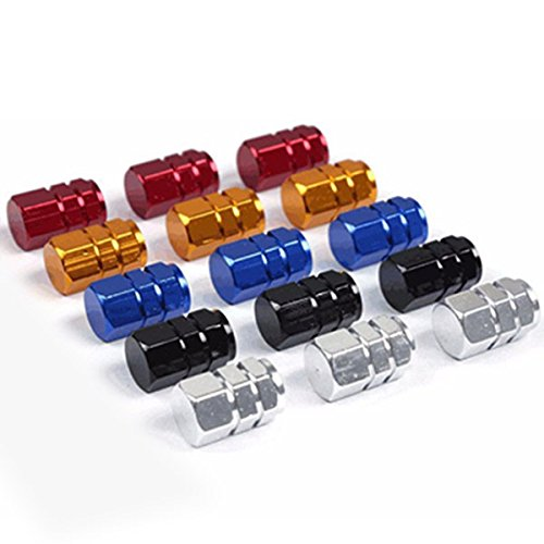 OULII Cappucci delle Valvole Auto Gomma Pneumatici Tappo Valvola Coprivalvola 5 Colori 20 Pezzi