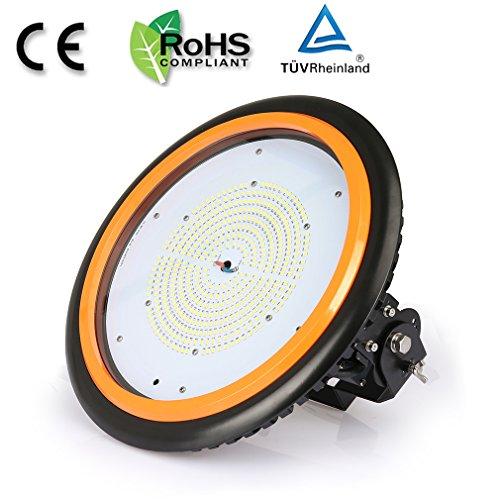 Anten UFO Projecteur LED 200W Industriel Phare de Travail de Super Luminosité 26000LM Spot High Bay Étanche IP65 Lampe Extérieur Blanc Froid 6500K