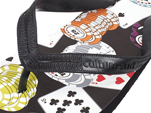 Culture sud - Partytime slap h - Tongs claquettes Noir