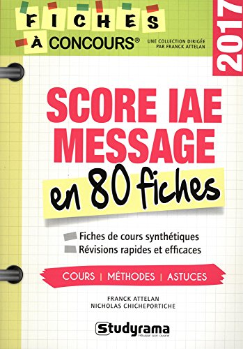 Score IAE en 80 fiches