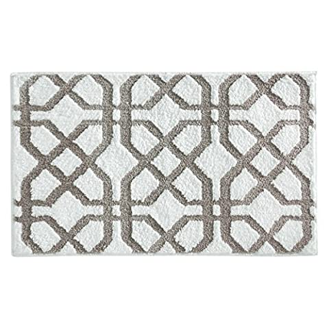 mDesign tapis de bain antidérapant – grand tapis de sol