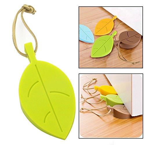 lvedu Tür Stopper Leaf Stil Silikon Tür Stopper Keil Türstopper mit Kordel für Home Office Outdoor, 1 Packung … (Katze Stopper)