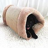 Sansee 2-in-1 Haustier-Nest-Hundebett mit doppeltem Verwendungszweck Kuschelhöhle for Dog Cat Crate House (Colour A)