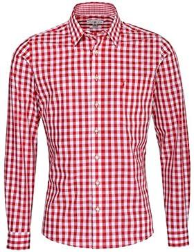 Almsach Trachtenhemd Hermann Slim Fit in Rot Inklusive Volksfestfinder