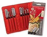 Triangle Special - Juego de cuchillas para tallar frutas y verduras, 8 piezas