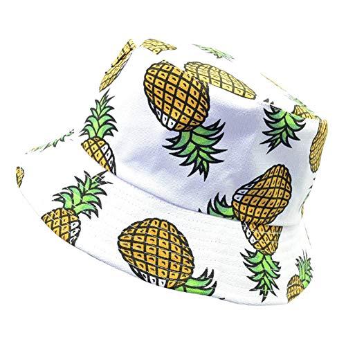 Hut Satin Adult Weiß - HSLPLX Mode Schöne Sommer Weiße Ananas
