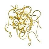 100pcs Kugel Ohrring Ohrhaken Verschlüsse Klappbrisuren Ohrbrisuren Drahtspule Haken Schmuck Machen Fingding DIY - Gold