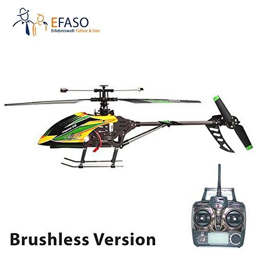 RC Helikopter V912 mit Brushless Motor - 2,4 GHz, 4-Kanal Single Blade Gyro Hubschrauber mit Kameravorbereitung komplett RTF