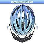 Yiesing-Ciclo-Casco-Casco-Leggero-Mountain-Bike-56-60cm-con-Visiera-Staccabile-Regolabile-in-FormaMTB-Casco-della-Bicicletta-per-Gli-Uomini-Adulti-e-Le-Donne